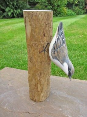Nuthatch carved bird by Archipelago.  Hand carved and painted by craftsmen in Bali Indonesia, under fair trading conditions using lead free paints and local replaceable softwoods.