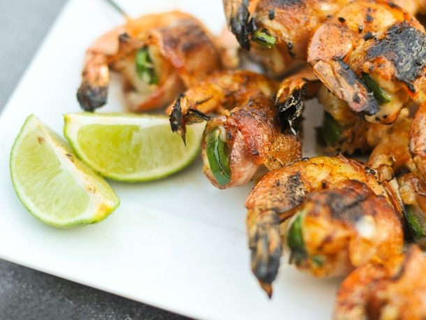 Grilling: Bacon-Wrapped, Jalapeno and Cheese-Stuffed Shrimp
