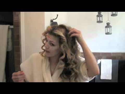 how to get no heat curls with wet hair
