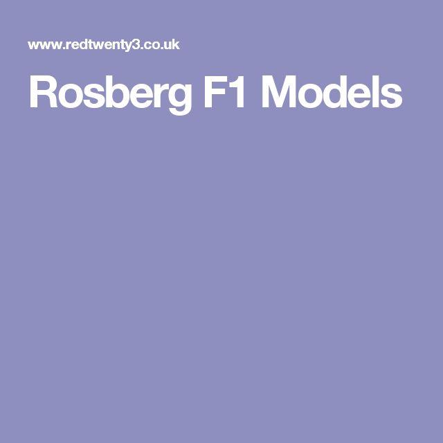 Rosberg F1 Models