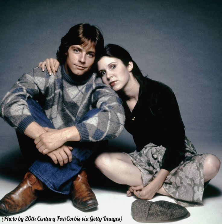 """3quartersbourbon: """" markhamillsource: """"Mark Hamill and Carrie Fisher on the set of Star Wars, 1977. """" Kids """""""