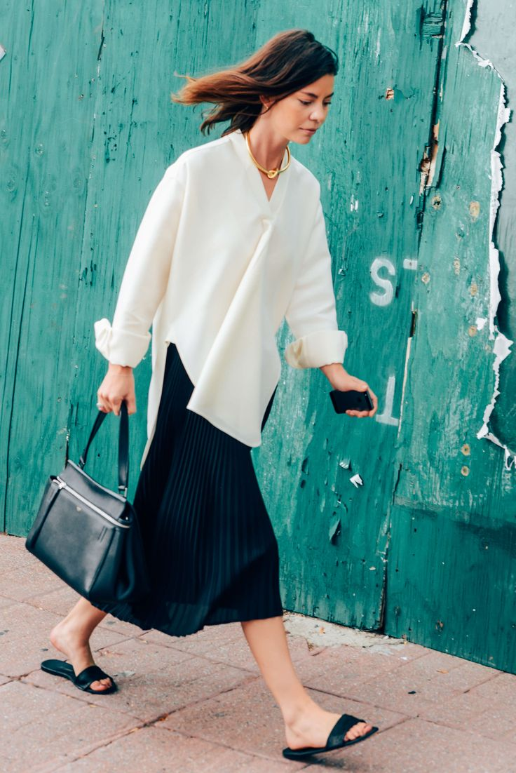 Tags Black, White, Annina Mislin, Flats, Blouses, New York, Céline