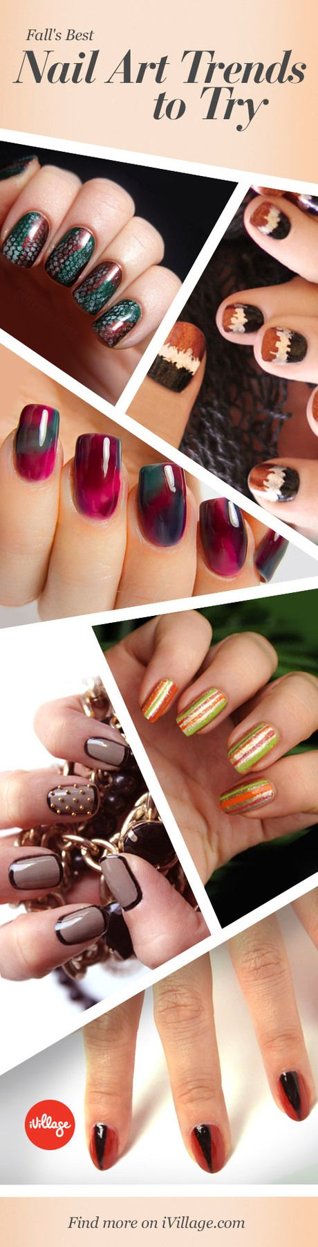 These fall nails are totally awesome to rock and totally easy to create. http://www.ivillage.com/nail-designs-fall-nail-art/5-a-545212?cid=pin|9-5-13|69