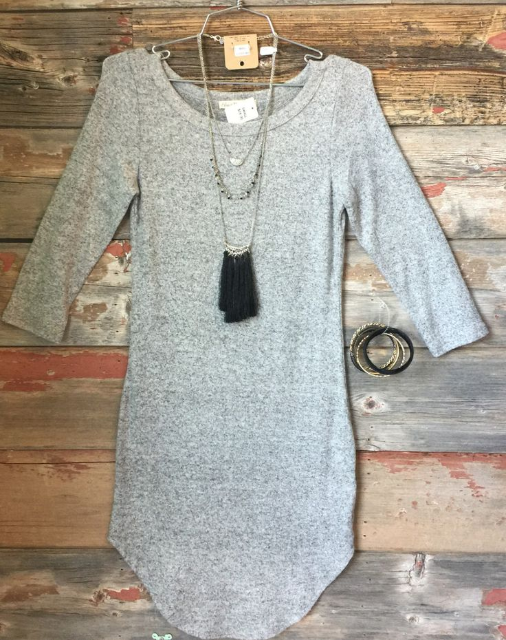 Fall Fashion Tunic Dress: Grey from privityboutique