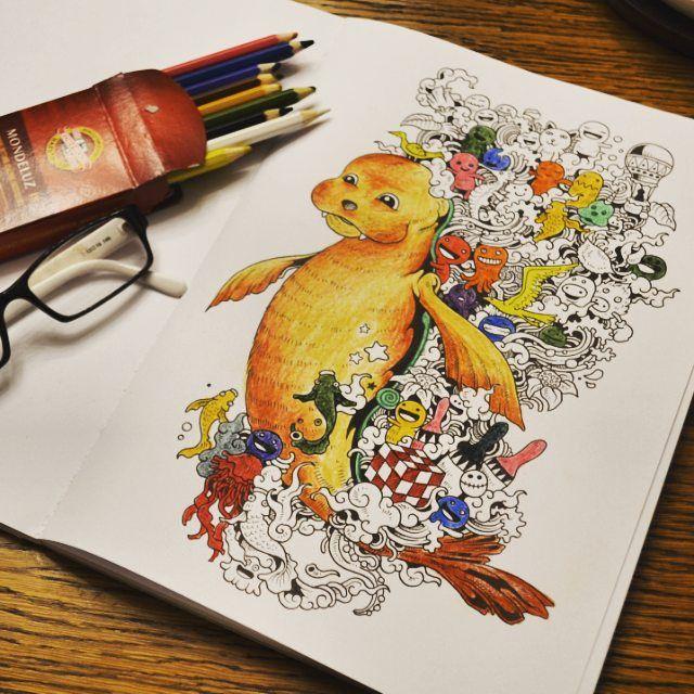 Foczka! :) #inwazjabazgrolow #doodleinvasion #inwazjabazgrołów #kolorowanie #koloruj #kolorowanki #kolorowanka #foczka #radosc #kolory #kredki #kreatywnosc #adultcoloring #zifflin #rosanes #nk #naszaksiegarnia #art #coloring #colors