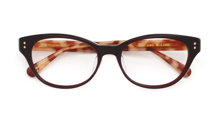 重厚感のあるクラシックフレームをトレンドのフォックス型にアレンジしたメガネ【JINS CLASSIC -GRACE-】シリーズ CCF-12-008 86 | 眼鏡(メガネ・めがね) - JINS