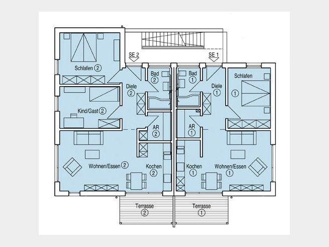 Grundriss eg mehrfamilienhaus m nch zwei wohnungen bad for Traumhaus grundriss