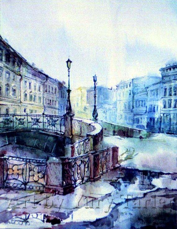 Yury Tarler.  Bridge, St. Petersburg