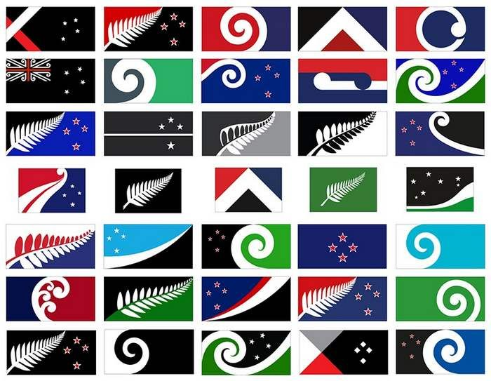 New Zealand flag design - strangeLine