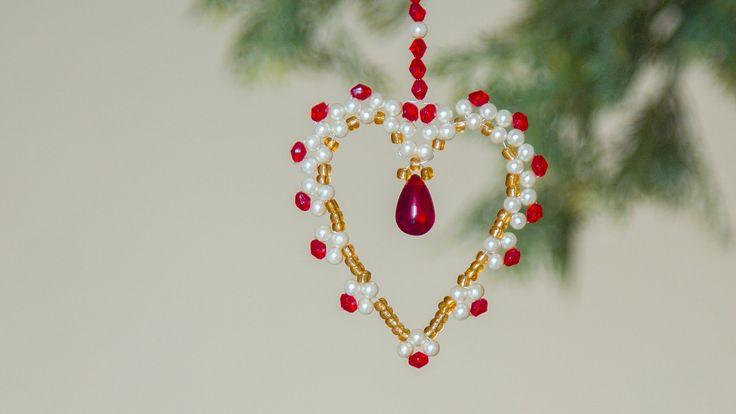 DIY beaded christmas ornament   How to make christmas ornament  