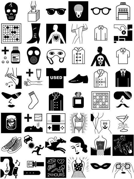 pon-chan: Book / Free Style Scraps - Pictogram...