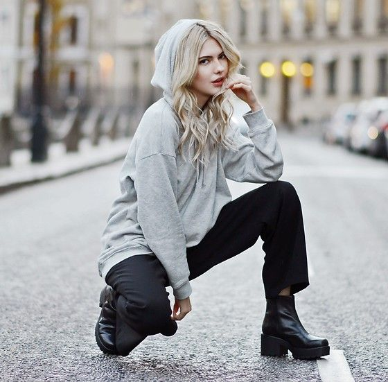 Get this look: http://lb.nu/look/8526157  More looks by Ebba Zingmark: http://lb.nu/ebbaz  Items in this look:  Asos Hoodie, Monki Pants, Rapunzel Clip On Set, Vagabond Boots   #casual #street