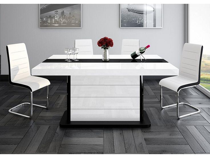 ODEON - Stół rozkladany o wysokim połysku