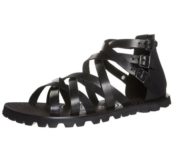 sandalias romanas hombre negras