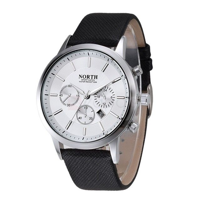 North Womens Stylish Quartz Watch Decorative Sub-dial Date Display    Add Review  SKU: WP1070801104000  $ 7.99