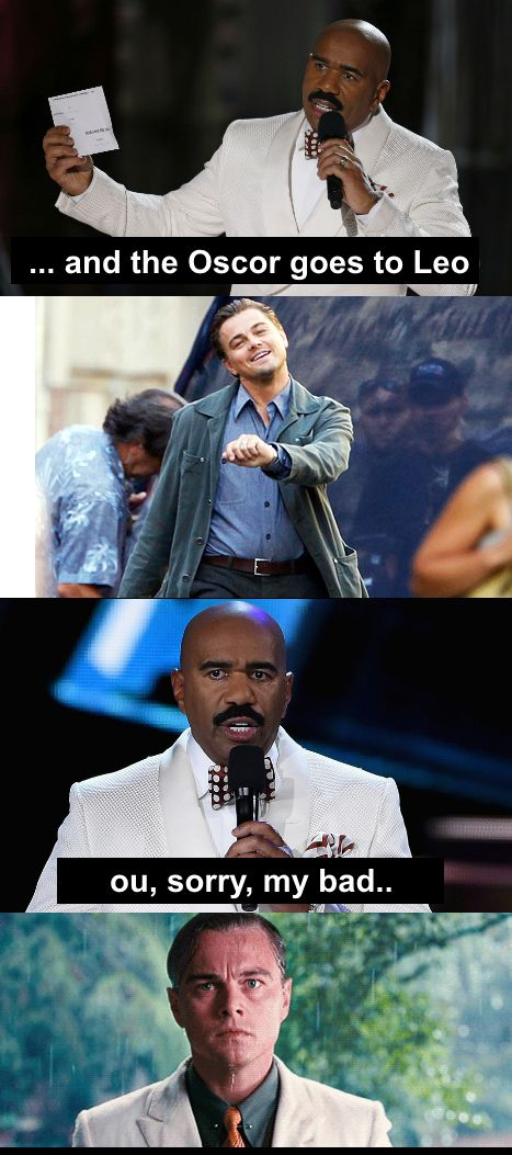 steve harvey fails leonardo dicaprio at oscars