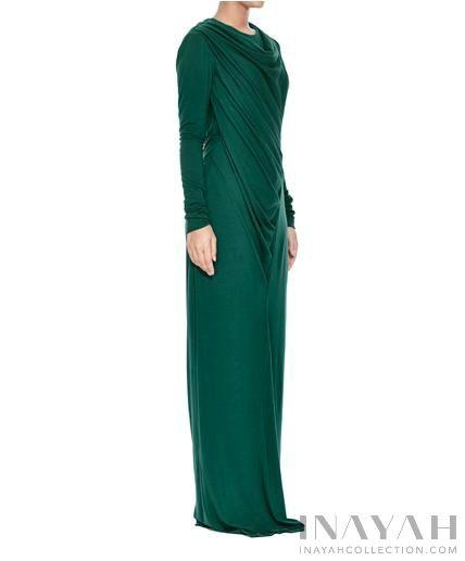 Emerald Cowl Neck Abaya| INAYAH www.inayahcollection.com  #inayah#hijabfashion#modestfashion#abaya