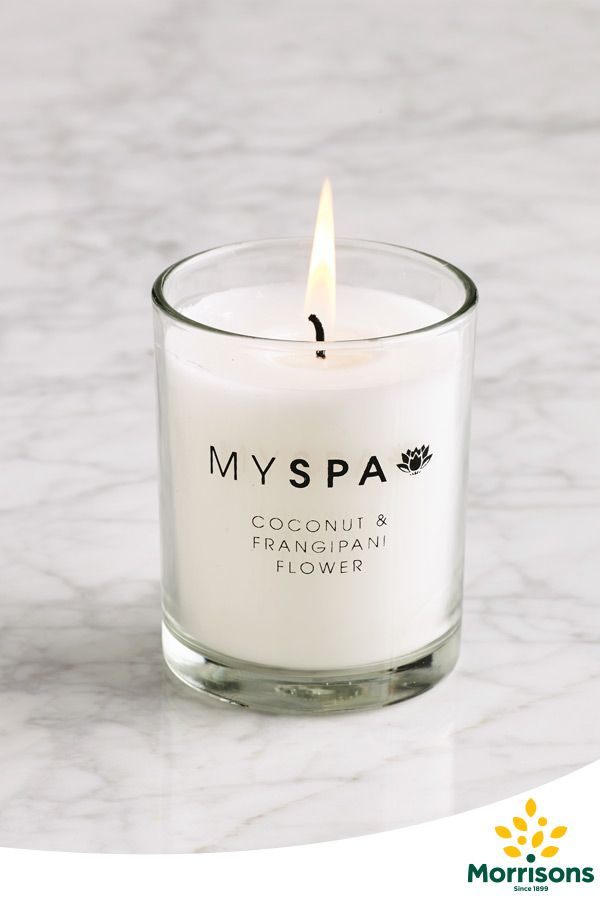 Morrisons My Spa candle (Coconut & Frangipani)