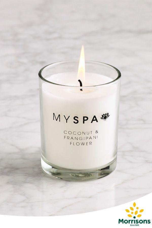 Morrisons My Spa candle (Coconut & Frangipani)