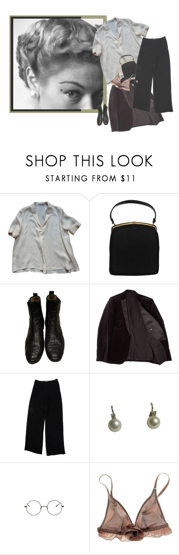 """""""garçonne"""" by stahlbluemchen ❤ liked on Polyvore featuring COS, Balenciaga, ASOS, Chanel and Myla"""