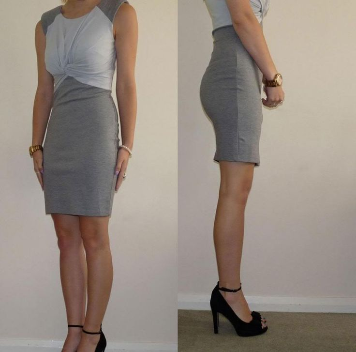 Up To The Minute Grey Work Dresses