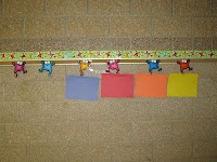 Classroom DIY: DIY Student Work Display using namebadge clips
