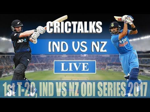 Live: IND Vs NZ 1st T-20 Live Scores and Commentary | 2017 Series