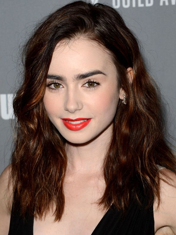 Lily Collins Costume Designers Guild Awards 2013 Lily Collins top 10 hair and makeup looks (new beauty crush alert!)