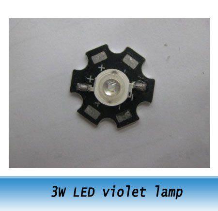 Фиолетовый светодиодные лампы 3 Вт питания из светодиодов фиолетовый свет 400-410NM из светодиодов диод с алюминиевой пластины 20 шт.