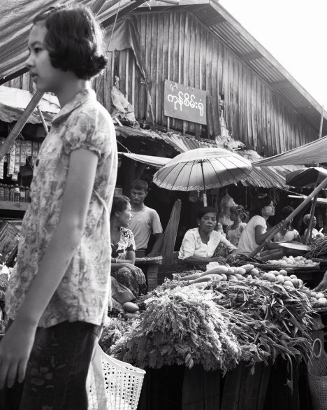 Burma - These vegetable sellers in the Sittwe market aren't feeling the benefits of reforms yet.