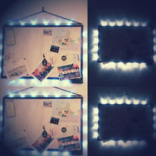 Pin board with lights