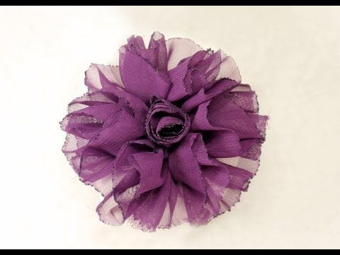 DIY, How to make Shaby Chic Fabric Flower, Tutorial, My Crafts and DIY Projects