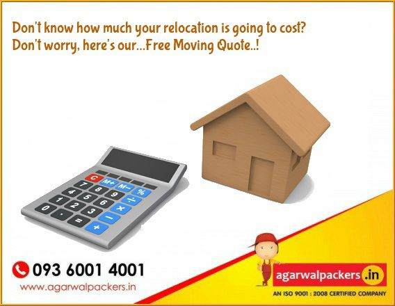 Don't Know how much your relocation is going to cost? Don't worry here's our... Free Moving Quote..!  We strive to provide a variety of moving resources geared to offer a more personalized moving experience. Agarwal Packers & Movers - DRS Group Our website: http://www.agarwalpackers.in/ #Packers #Movers #Agarwal #Residential #Offering #Householdpackers #Bangalore #Delhi #Mumbai #pune #hyderabad #Gurgaon #india #FreeMovingQuote...