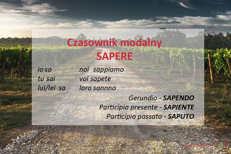 Czasownik modalny SAPERE http://jezykwloski.com/czasownik-modalny-sapere/