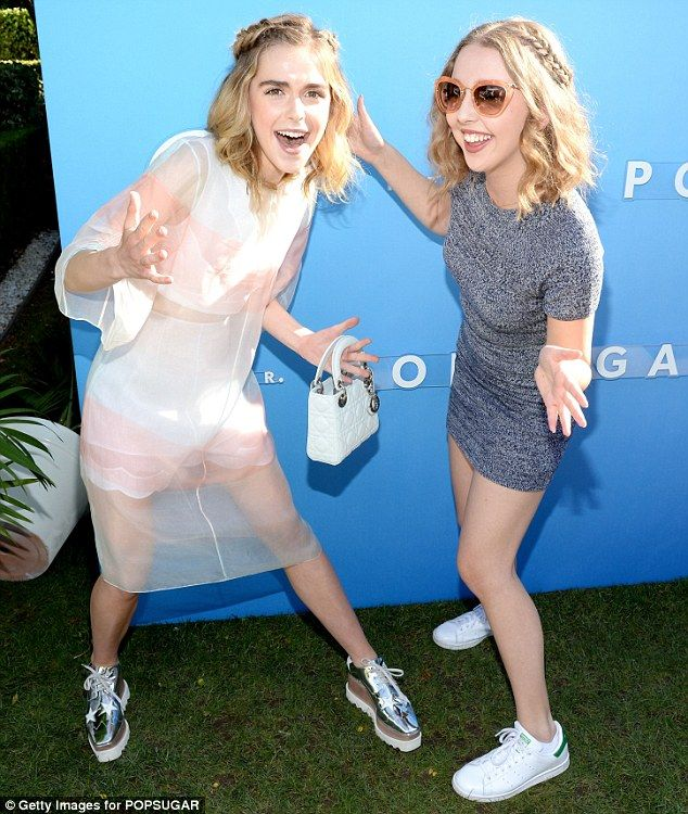 Just girls: The star made a playful pose with Lily Rosenthal, the daughter of Everybody Lo...