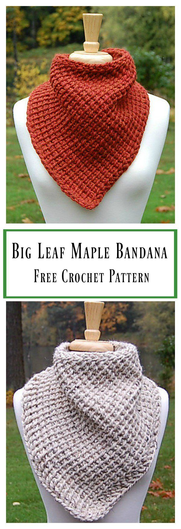 Big Leaf Maple Bandana Cowl Free Crochet Pattern