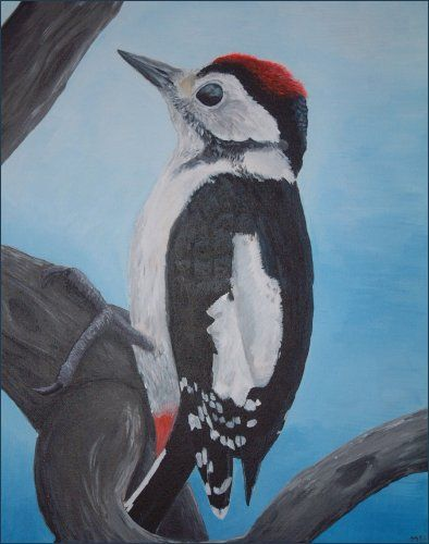 Wood Pecker painting.