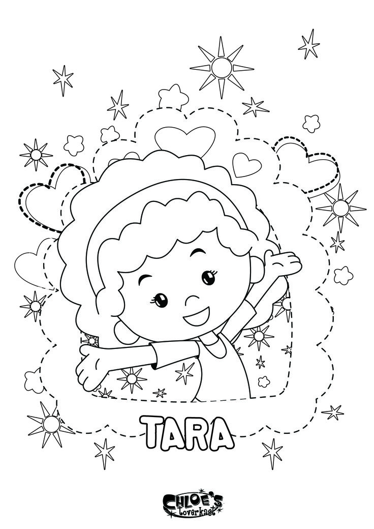 Een kleurplaat van Tara uit Chloe's Toverkast. Leuk voor kids!