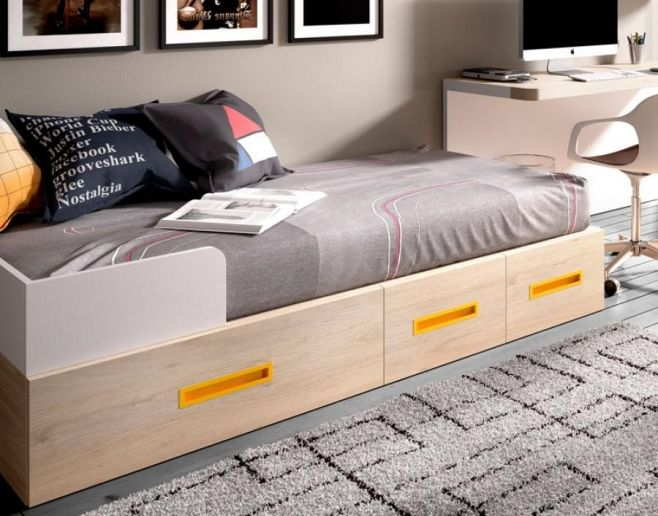 Children's Rimobel Mundo Joven Storage Bed with Drawers Various Colours.  #interiordesign #contemporaryfurniture #furniture #house #interiors