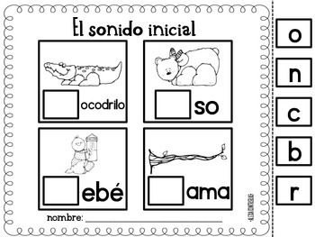SONIDO INICIAL {BEGINNING SOUNDS IN SPANISH} - TeachersPayTeachers.com