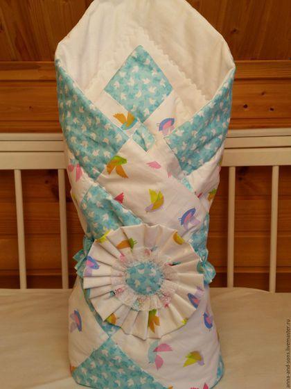 Одеяло конверт на выписку, на выписку, конверт для новорожденного