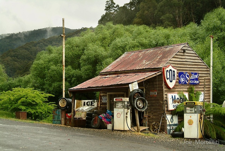 Wood's Point Service Station by Joe Mortelliti  •  Deep in the Victorian High Country this is a working relic of the past.