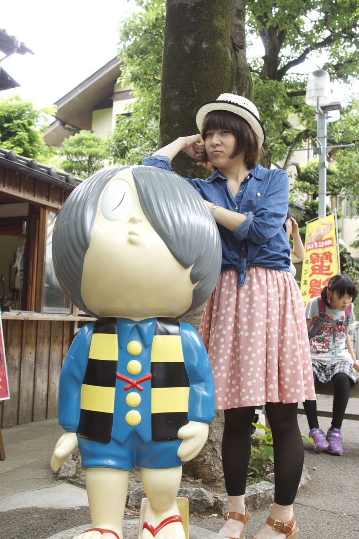 Kitaro and Rin-chan. @Jindaiji