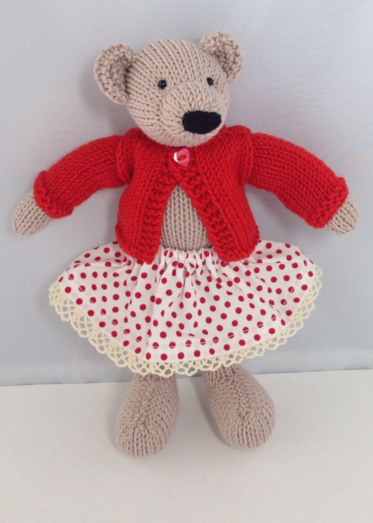 Knitted Bear by Nodnook on Etsy