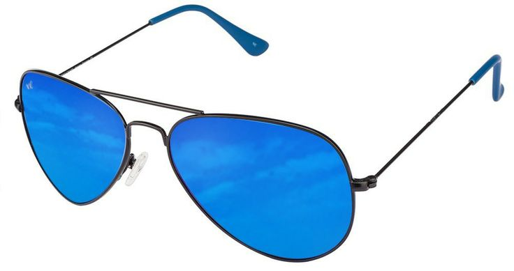 Vincent Chase VC 5158 Black Blue Mirror 1120/U1 Aviator Sunglasses - Lenskart.com