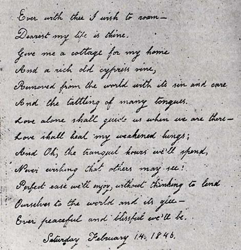 A Lovely Letter Written By Virginia Eliza Clemm Poe For Her Husband, Edgar  Allan Poe
