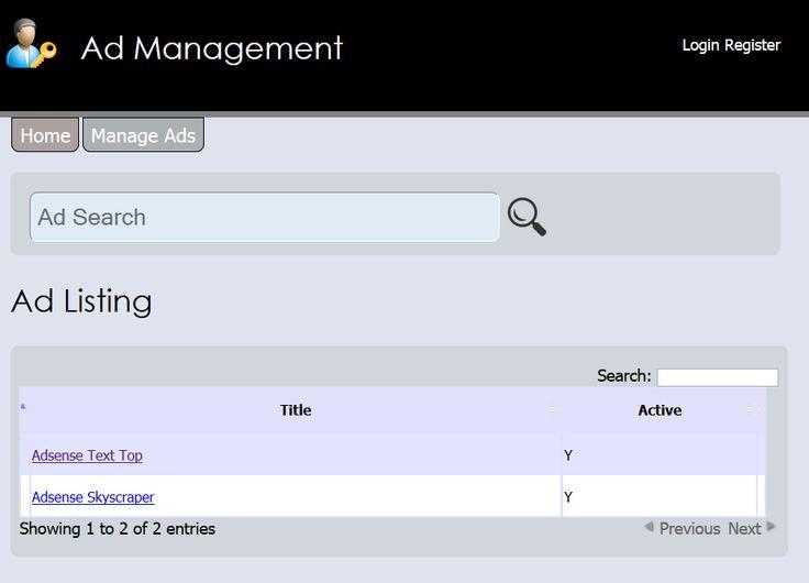 Ad Management Script