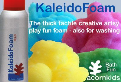 Kaleidofoam is by far one of our favourite ways to wash in the bath. Read my mommy blog at http://www.acornkids.com/blog.aspx and click here to buy now!  http://goo.gl/29xYjc