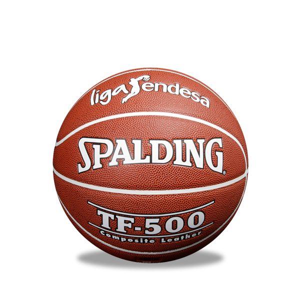 Balón Spalding TF-500, Impresionante balón réplica de la Liga Endesa, realizado en piel composite que hará las delicias de los jugadores de baloncesto. Talla 7 www.basketspirit.com/Balones