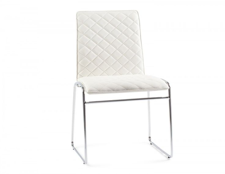 Crystal is a contemporary classic. Upholstered in polyurethane (PU) quilted in a diamond pattern, this wipe-clean chair is comfortable, even during long sitting periods. With iron tube legs in a  chrome finish and a sleek back, Crystal will be the perfect addition to your modern décor.